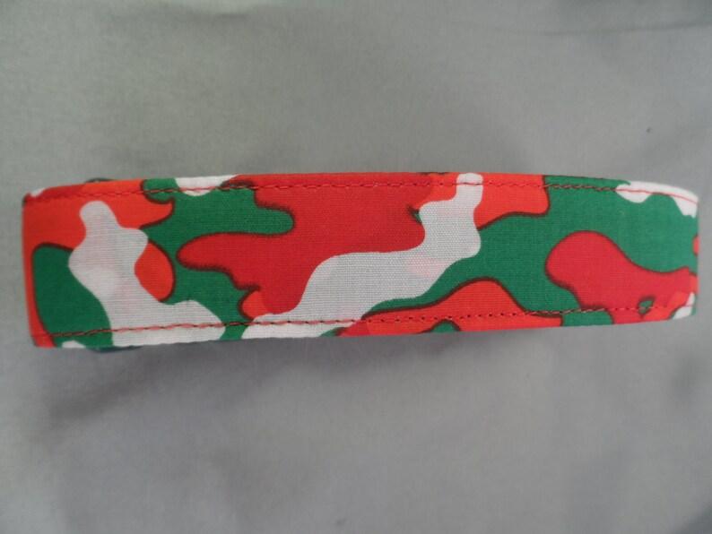 Camo Christmas Dog Collar
