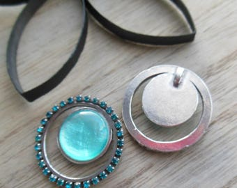 pretty round pendant with Rhinestones