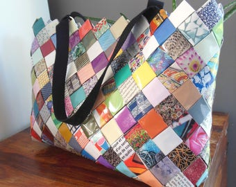 pretty recycled magazine paper bag