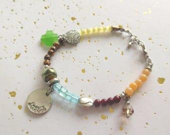 "Bracelet has multicolor Bohemian style ""Faustina"""