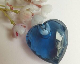 jolie perle pendentif en forme de coeur en plastique