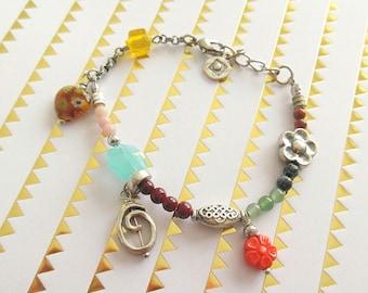 "Bracelet has multicolor Bohemian style ""melinda"""