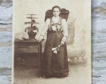 Vintage Traditional Dress Photograph Woman Portrait | Etsy