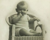 Vintage Baby Photograph, Family Photo Children Picture Photo, Real Picture Postcard