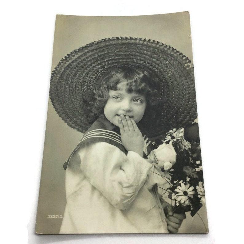 Vintage Boy Postcard Kids Children Postcard,