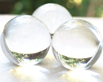 ON VACATION, Modern Home Decor Ball Clear Crystal Ball Huge Glass Ball 39mm Large Marble Big Glass Marble Vintage Marble Colorful Sphere toy