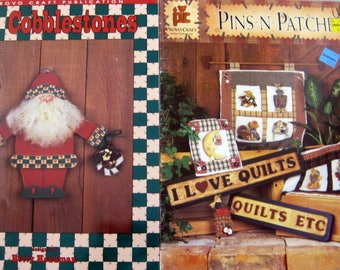 2 Decorative Painting Books, Cobblesstones and Pins-N-Patches