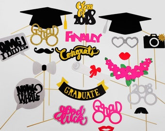 Graduation Party Photo Booth Props - Class of 2018 Graduation Photo - Graduation Photo Booth Props - Graduation Announcement