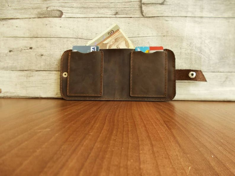 Mens leather wallet, Pocket wallet, Cash wallet, Slim pocket wallet,  Distressed leather wallet, Bifold wallet, Travell case, Brown, Rustic