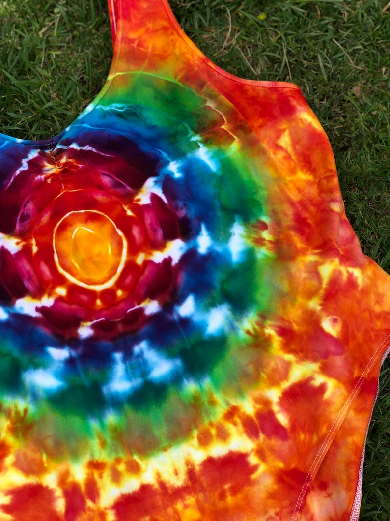 3X Center portal rainbow bodysuit