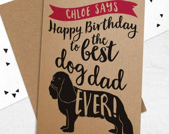 Birthday Card To The Best Dog Dad Mum Ever