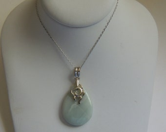 Gemstone Necklace on a Sterling Silver Necklace