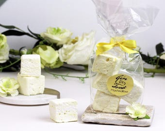 Gin & Tonic marshmallows for wedding favours, edible favours, gin wedding