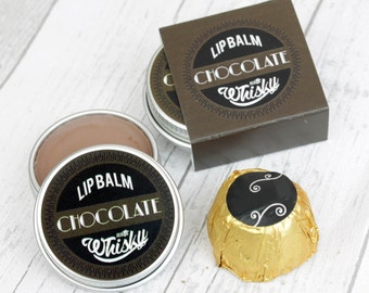 Chocolate Whisky Lip Balm. Natural Lip Balm. Natural Beauty Gift.