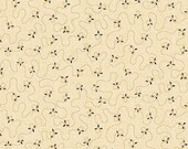 Kim Diehl Butter Churn Basics Beige Meandering Triple Dash With Hint of Blue, Henry Glass Fabrics by the Yard 6285 33