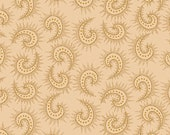 Kim Diehl Butter Churn Basics Beige Spiked Paisley With Hint of Gold, Henry Glass Fabrics by the Yard 1442 33