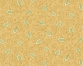 Kim Diehl Butter Churn Basics Leaves On Tan With Hint of Green, Henry Glass Fabrics by the Yard 6559 33