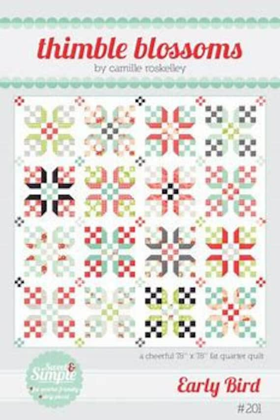 A Fat Quarter Quilt Pattern, Use 16 Coordinating Quilt Fabrics and A White Background To Create a Fresh Modern Look, Sweet & Simple