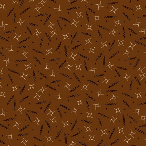 Primitive Whirylygigs On Pumpkin Gold Background, Fall Home Decor, Pumpkin Farm Stacy West, Buttermilk Basin, Fabric by the Yard 2055 35