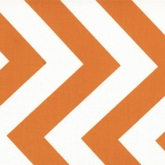Large Orange Chevron Zig Zag From Half Moon Modern by Moda Fabrics by the Yard 32349 17