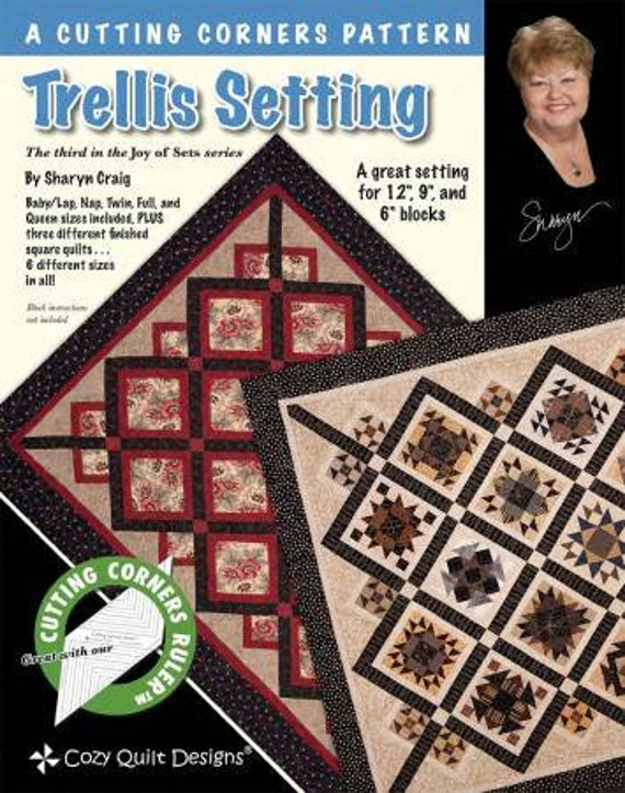 How To Set Quilt Blocks On Point With Border Sashings and Set In Blocks To Help Turn Any Quilt On It's Edge, Trellis Setting by Sharyn Craig