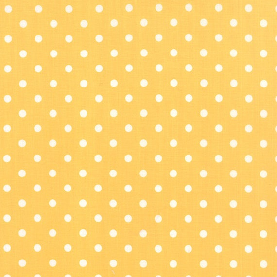 Corey Yoder Little Miss Shabby Yellow With White Dot Quilt Fabric. 29005-25