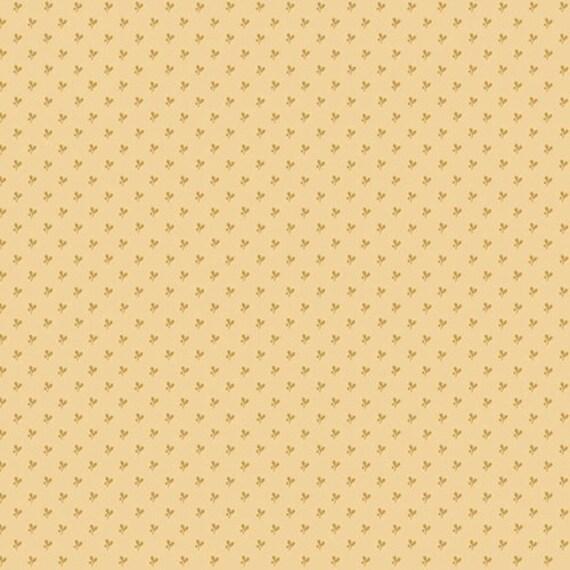 Kim Diehl Butter Churn Basics Beige Tiny Leaf With Tiny Dot, Henry Glass Fabrics by the Yard 6287 33
