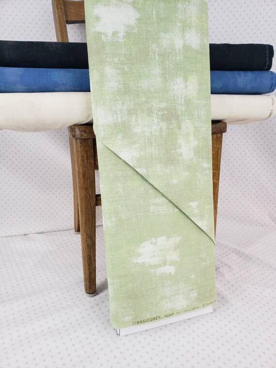 Winter Mint Green Grunge Basics, Modern Textured Brush Stroke Tonal Blender, Moda Quilt Fabric by the Yard, 30150 85
