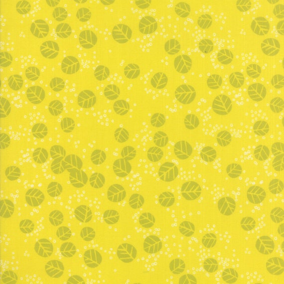 Abstract Leaves Tone on Tone Citrine Yellow, Digital Quilt Prints Crystal Manning by Moda, Fabric by the Yard 11835 15