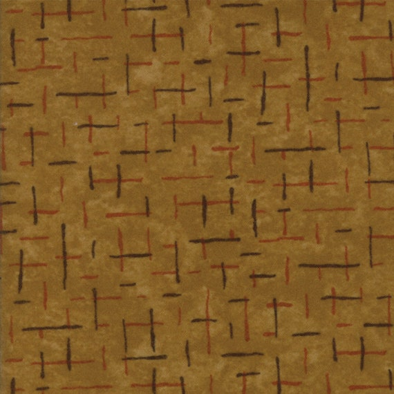 Light Brown Flannel With Dark Criss Crossed Hash Lines From Holly Taylor Fall Impressions Moda Fabric By The Yard 6704 12F