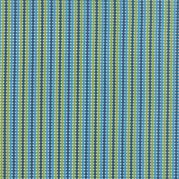 Meadow Bloom April Rosenthal Prairie Grass Quilt Fabric With Dots In Stripes In Navy, Blue, Aqua, Grass Green By The Yard 24024 17
