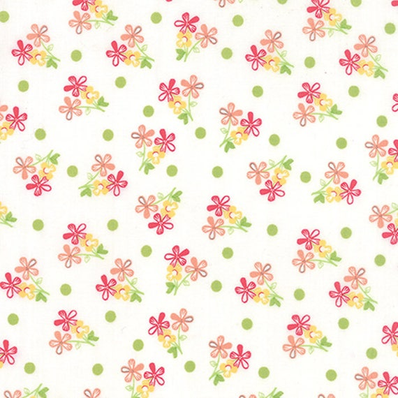 Corey Yoder Little Miss Shabby White Prairie Sprigs Quilt Fabric. 29003-11