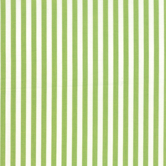 Corey Yoder Little Miss Shabby Green Prairie Stripe Quilt Fabric. 29006-27