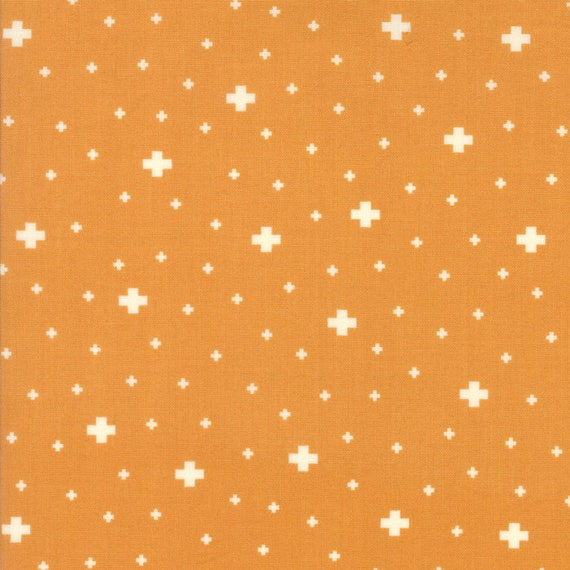 Desert Bloom Modern Design Mustard Gold With Crosses by Sherri and Chelsi For Moda Fabrics by The Yard 37523 15