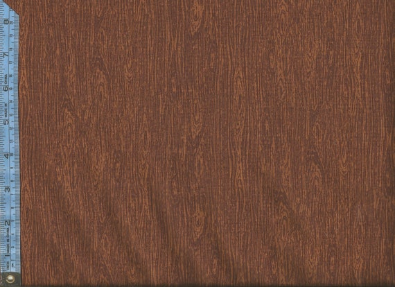 Moose On The Loose, Wood Nutmeg Brown, Tree Bark Tonal Benartex Fabric by the Yard, 4305 701