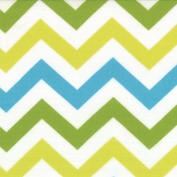 Chevrons In Green Yellow and Aqua From Mixed Bag Collection By Studio M For Moda Fabrics by the Yard  32864 12