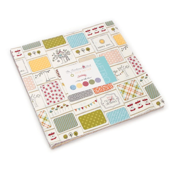 The Treehouse Club Layer Cake from Moda, Designer Sweetwater, Child Theme With Construction Decor, Circles and Dots 5630LC