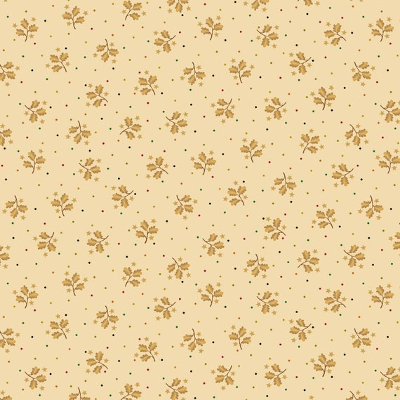 Liberty Star Kim Diehl Quilt Fabric By The Yard - Sprigs and Stars Neutral 1585 44