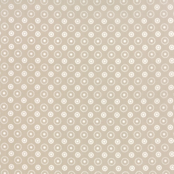 Meadow Bloom April Rosenthal Prairie Grass Quilt Fabric With Flowers And Circles Of Dots In Beige Grey Neutral By The Yard 24026 11