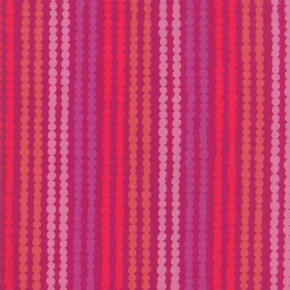 Bubble Stripe With Berry Background, Digital Quilt Prints Crystal Manning by Moda, Fabric by the Yard 11836 13