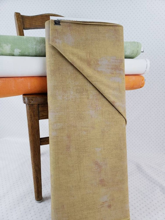 Warm Kraft Tan Grunge Basics, Modern Textured Tonal Blender, Trendy Brushed Look, Hints of Taupe, Moda Quilt Fabric by the Yard, 30150 103