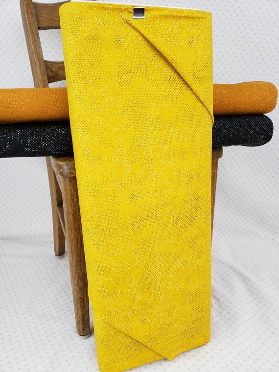 Mustard Yellow Spotted Solid From Quotation Moda Fabrics, Fabric Designer Zen Chic, Textured Background Quilt Fabric by the Yard 1660 136