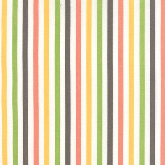 Corey Yoder Little Miss Shabby White Prairie Stripe Quilt Fabric. 29006-11