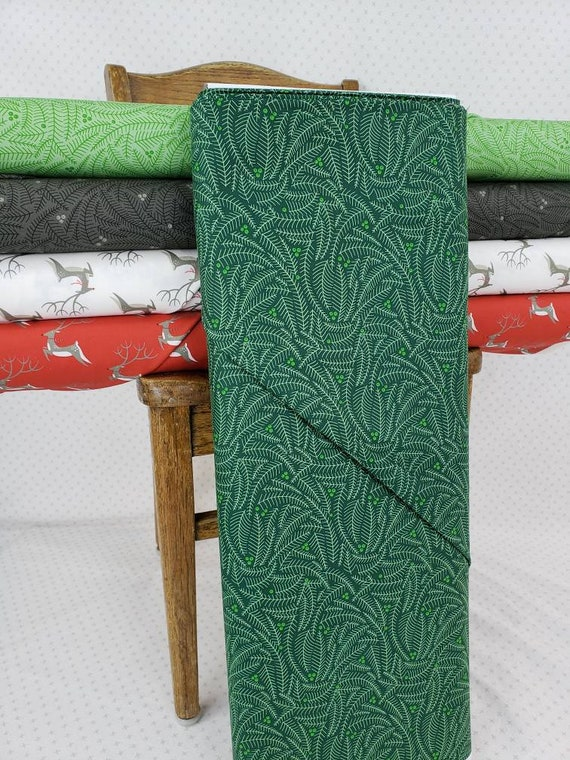 Light Pine Green Fir and Berries, Northern Light Christmas by Annie Brady for Moda Fabrics, Quilt Fabric by the Yard 16734 19