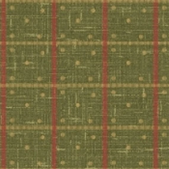 Enduring Grace by Kaye England For Wilmington Prints Quilt Fabric by the Yard, Plaid Green 98528 732