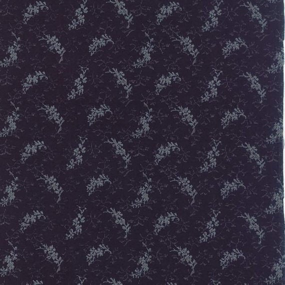 Snowbird Heather Dark Navy Winter Blue, Light Night Sprigs, Laundry Basket Quilts For Moda Fabric By The Yard 42170 20