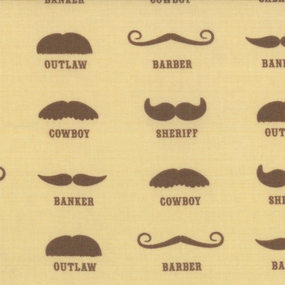 Mustache For Cowboys to Sheriff and Outlaw, Western Theme Honky Tonk by Eric and Julie Comstock for Moda Fabrics By The Yard. 37081 11