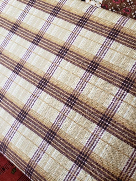 Mountain Woods Light Plaid On Cream Background for SPX Fabrics, Quilt Fabric by the Yard, 23961