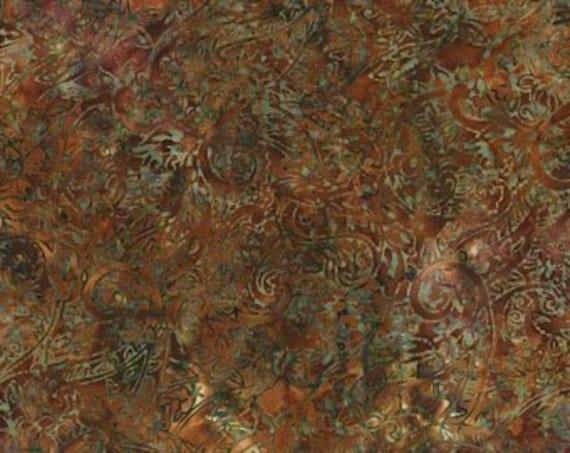 Khaki Brown Paisley Malam Batik by Jinny Beyer for RJR Fabrics, Fabric by the Yard 2144 4