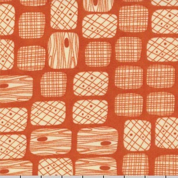 S'More Love Tree Bark Designs On Burnt Orange Background, Designers Eric & Julie Comstock, For Moda Fabrics by the Yard  37076 13